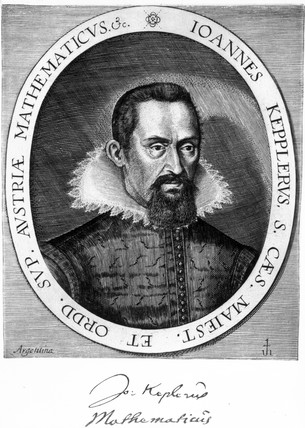 Johannes Kepler, German astronomer and physicist, c 1600.