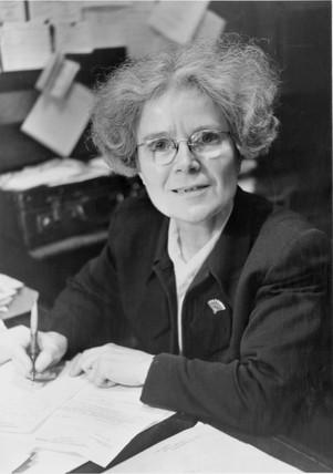 Dame Kathleen Lonsdale, Irish crystallographer, 1957.