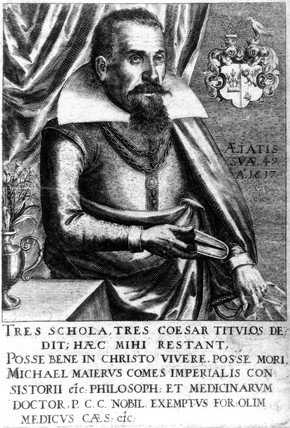 Michael Maier, German alchemist and physician, early 17th century.