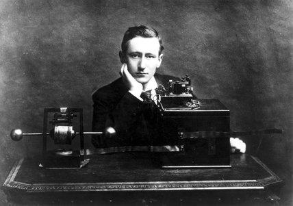 Gugliemo Marconi, Italian radio pioneer, c 1900.