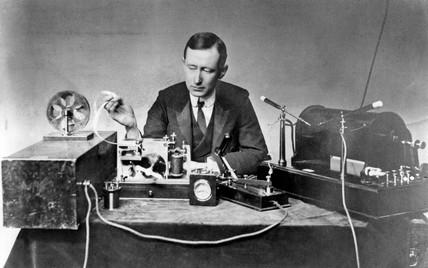 Gugliemo Marconi, Italian radio pioneer, c 1902.