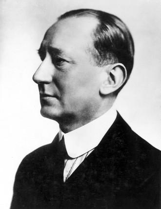 Gugliemo Marconi, Italian radio pioneer, 1920.