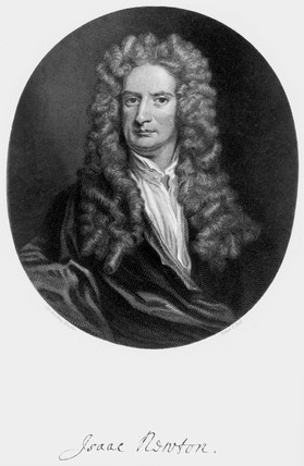 Sir Isaac Newton, English mathematician and physicist, c 1715.