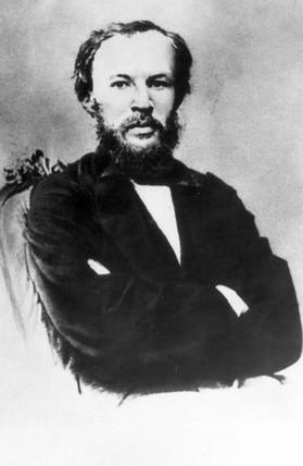 Dmitry Ivanovich Mendeleyev, Rusian chemist, 1860s.