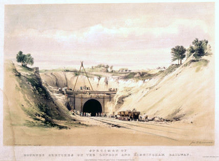 Watford Tunnel Face, Hertfordshire, 8 June 1837.