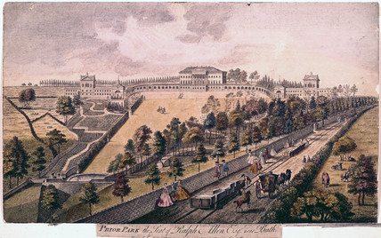 'Prior Park, the Seat of Ralph Allen, Esq, near Bath', Somerset, 1750.