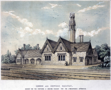 'London and Croydon Railway design for the Stations...,' 1836.