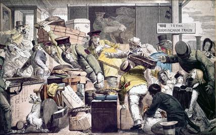 'Break of Gauge at Gloucester', Gloucestershire, 6 June 1846.