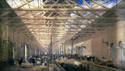 Warehouse at King's Cros, London, 19th century.