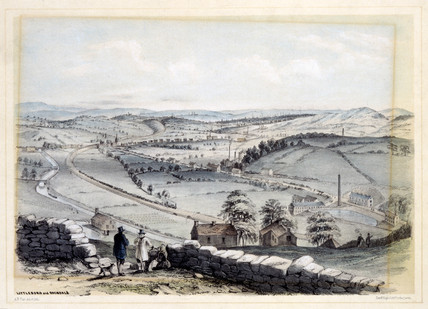 View of Littleboro and Rochdale, Greater Manchester, 1845.