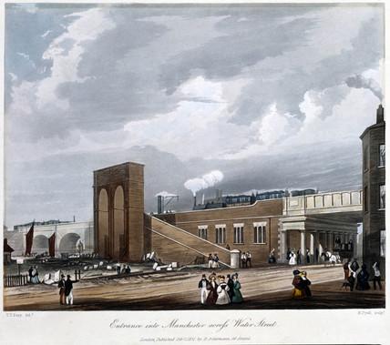 Entrance into Manchester acros Water Street, 1836.