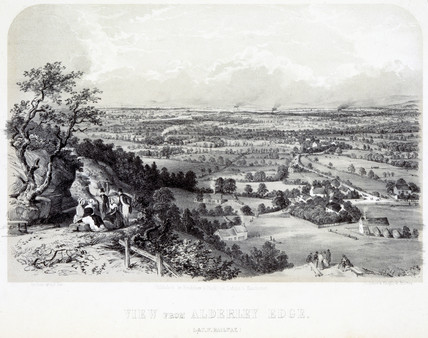 View from Alderley Edge, Cheshire, London & North Western Railway, 1848.
