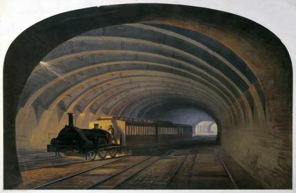 Metropolitan Railway, Bellmouth, Praed Street, London, c 1868.