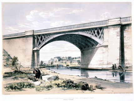 'Nash Mill Bridge, near King's Langley, Hertfordshire', 1839.
