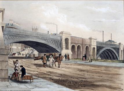 Bridge over the Irwell, Victoria Station, Manchester, 1845.