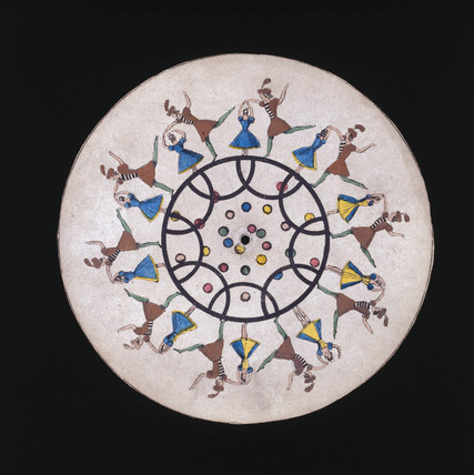 Phenakistoscope disc showing male and female ballet dancers, c 1830.