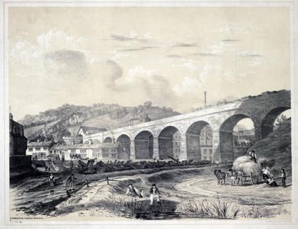 'Todmorden Viaduct and Bridge', West Yorkshire, 1845