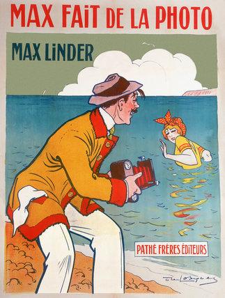 'Max taking photographs', cinema poster, 1910.