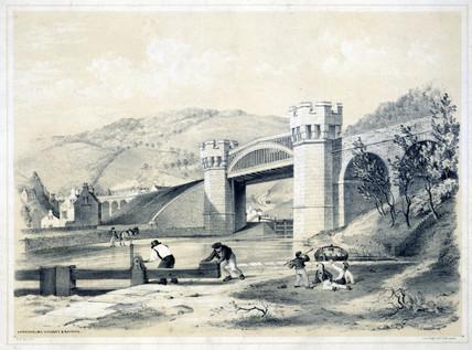 'Gawksholme Viaduct and Bridge', West Yorkshire, 1845.