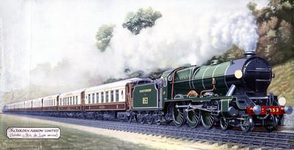 The 'Golden Arrow Limited', London-Paris De Luxe Service, c 1900s.