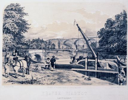 'Weaver Viaduct', Cheshire, London & North Western Railway, 1848.
