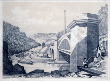 'Whiteleys Viaduct, Charleston Curves', West Yorkshire, 1845.