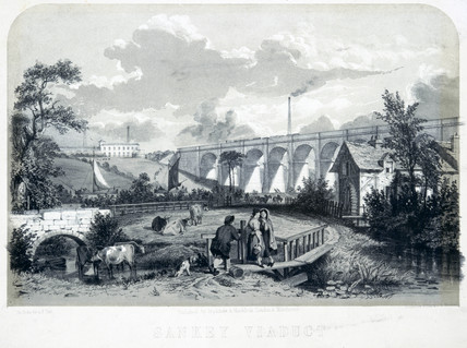 Sankey Viaduct, Warrington, Cheshire, 1848.