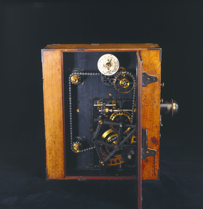 Moy 35mm cine camera, c 1909.
