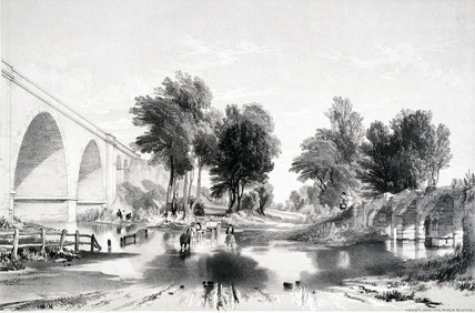 Viaduct over the River Blythe, London and Birmingham Railway, 1839.