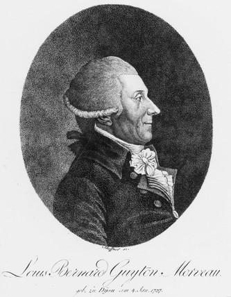Louis Bernard Guyton Morveau, French chemist and lawyer, c 1800.