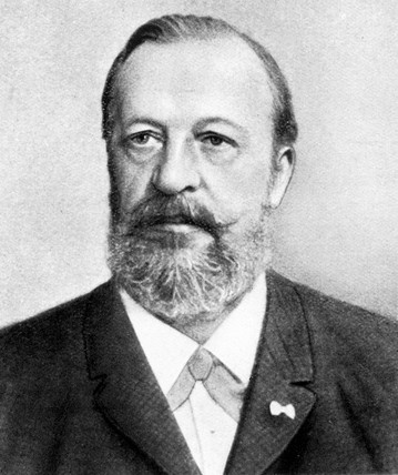 Nikolaus August Otto, German engineer,   c 1870.