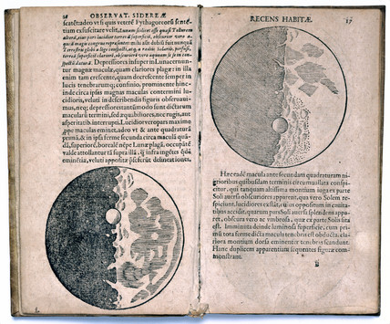 Galileo's observations of the Moon, 1610.