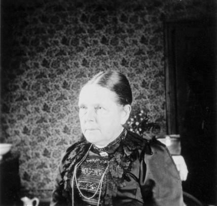 Frau Roentgen, the wife of Wilhelm Conrad Roentgen, c 1900.