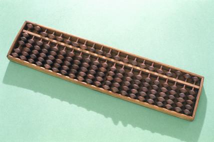 Japanese abacus or soroban, c 1930.