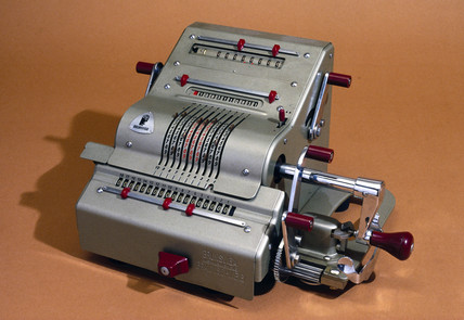 Brunsviga calculating machine, c 1950.