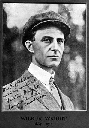 Wilbur Wright, American Aviator, 18 December 1908.