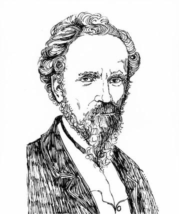 Linus Yale, American locksmith, 1868.