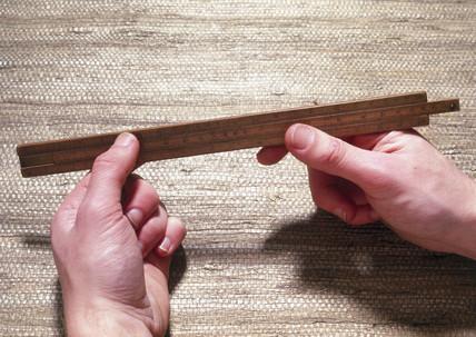 Engineer's slide rule, c 1800. This boxwood