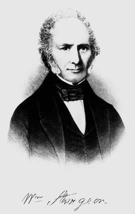 William Sturgeon, English inventor, c 1830-1840.