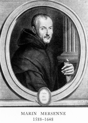 Marin Mersenne, French mathematician and scientist, early 17th century.