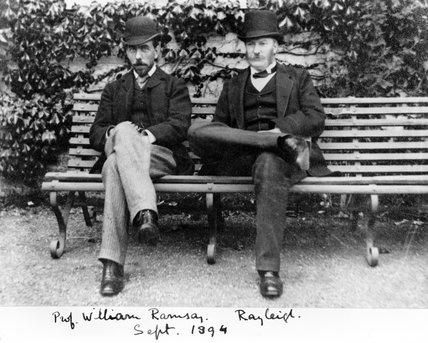Sir William Ramsay and Lord Rayleigh, 1894.