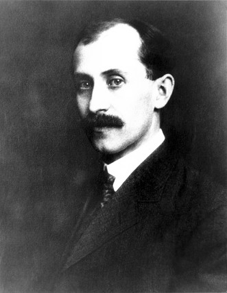 Orville Wright, American aviation pioneer,  1903.