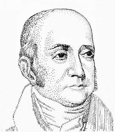 Jacob Perkins, American inventor, c 1825.