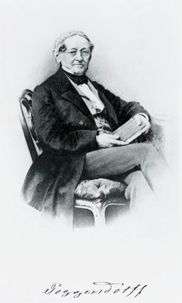 Johann Christian Poggendorf, German physicist, mid 19th century.