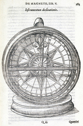 Illustration from 'De Magnete' by William Gilbert, 1600.