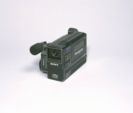 Sony Handycam Video 8, M8 Camcorder, Japanese, 1990s.