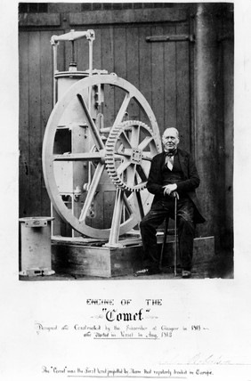 John Robertson, Scottish engineer, with  the 'Comet' engine, c 1862.