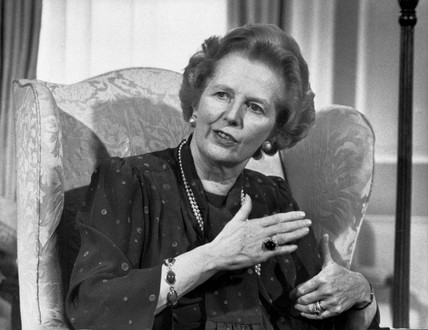 Margaret Thatcher, British politician, April 1987.