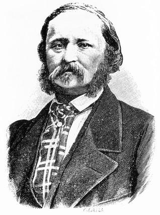 Edouard-Leon Scott, French inventor, c 1865.