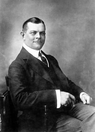 Charles Urban, American documentary film pioneer, c 1911.